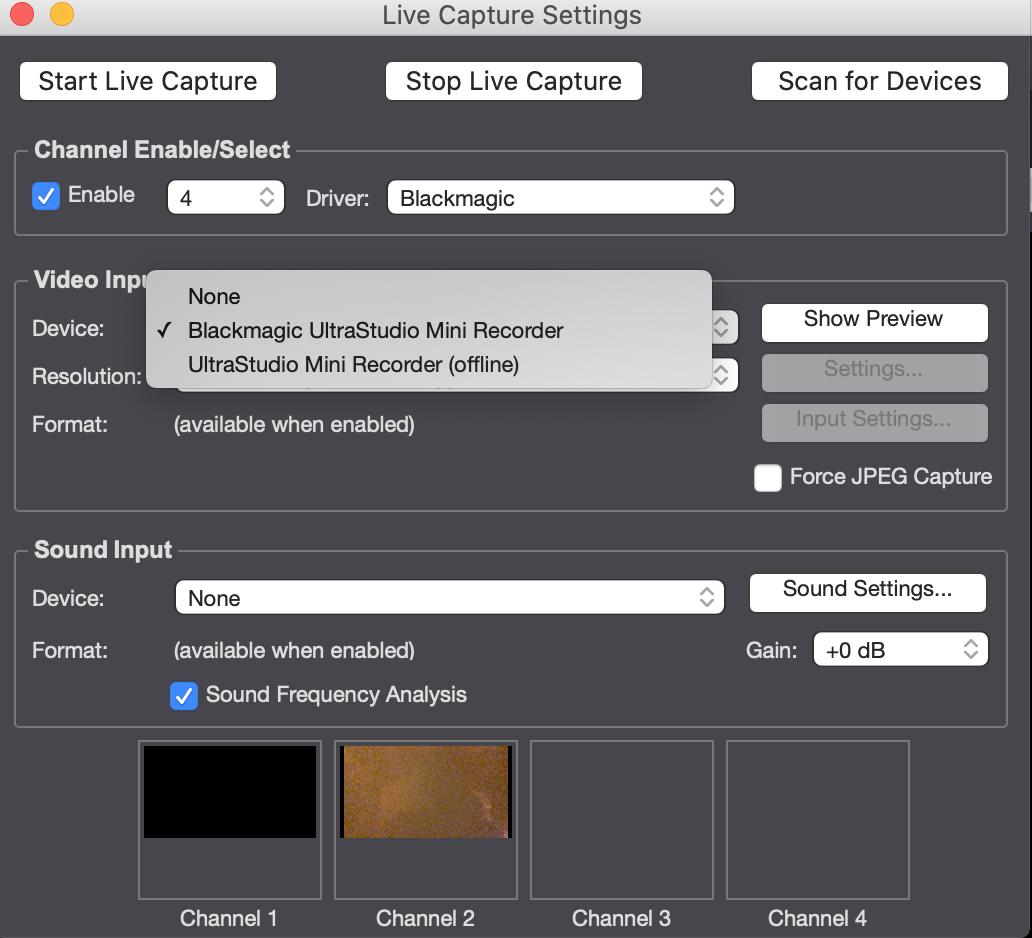 Solved Black Magic Ultrastudio Mini Not Showing Picture Troikatronix Forum